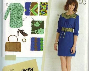 "Simplicity ""Lisette"" Sewing Pattern 0406 (aka 2060) - Itinerary Dress and Belt (6-14)"