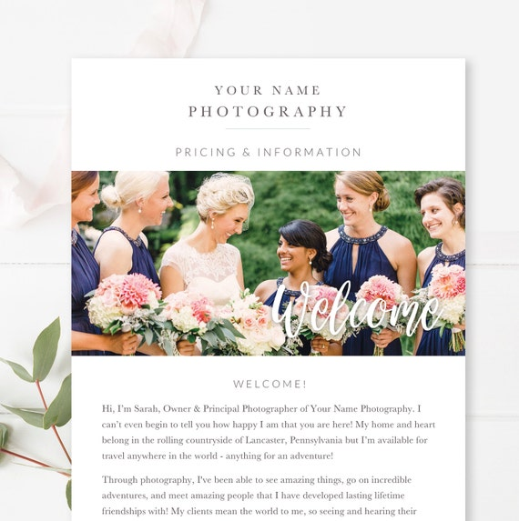 wedding photography email template email newsletter template