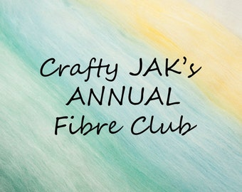 ANNUAL (12 months) Subcription to Crafty JAK's Carded Fibre Club