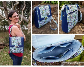 Juno Sling Purse ~ Crossbody Bag PDF Sewing Bag Pattern RLR Creations
