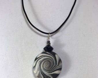 Karma Spiral Pendants - #226 Polymer Clay Pendant, Good Luck Charm, Good Karma, Handmade, One of kind, Unique Gift, Boho Jewelry