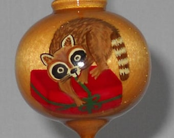 Christmas Ornament, Raccoon Ornament, WBO-56