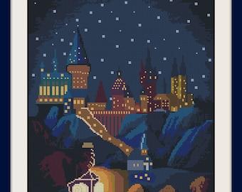 Harry Potter Hogwarts  cross stitch pattern,  BOGO, PDF counted cross stitch Harry Potter,Hogwarts pattern, R017