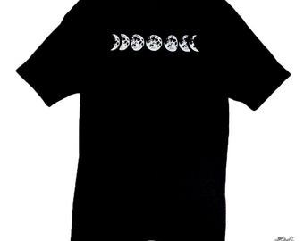 Men's Phases of the Moon Screen Printed Tee Shirt
