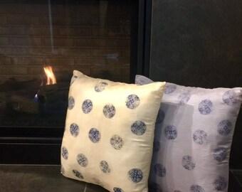 Naturally Dyed  Indigo Block Printed Pillow Cover