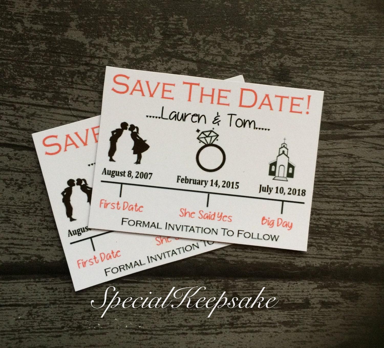 Personalised Save The Date Fridge Magnet Wedding Mr & Mrs