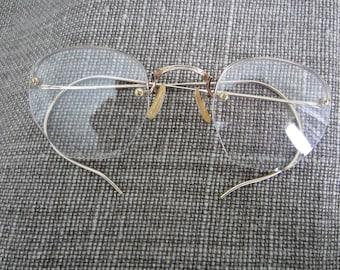 Antique Gold Eyeglass Frames 1940's Vintage