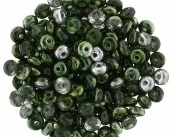 Mirror Fern 3 mm Rondelle Beads (100)