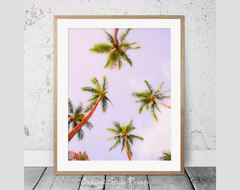 Palm Print,#1, Tropical Print, Wall Art, Palm Trees Print, Modern Wall Decor, Coastal Art, Poster, Palm Photography, Instant Download, 114a