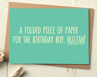 Funny Birthday Card - Funny Friend Card - Card For Boyfriend - Birthday Card Friend - Birthday For Him - Funny Greeting Cards - Bday Card