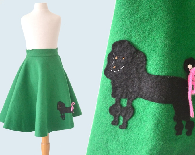 1950s Child's Felt Poodle Skirt