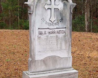 Harrington Halloween Tombstone Cemetery Prop Made to Scale! Graveyard Headstone