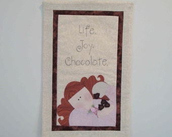 Life Joy Chocolate Mini Quilt Wallhanging