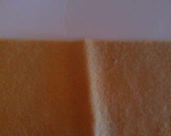 Plant Dyed Osage Orange  Felted Wool Light Gold