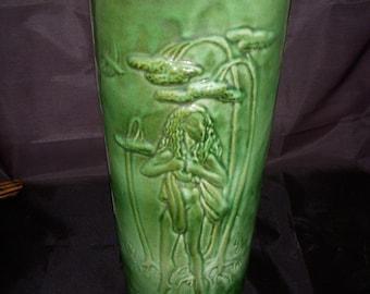 Vintage American Art Pottery Lamp Body Nude Fairy Nymphs Van Briggle