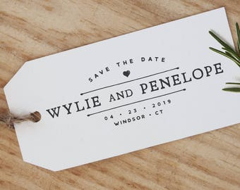Save The Date Stamp -- Custom Save The Date Stamp; Wedding Date Stamp (Vrs2)