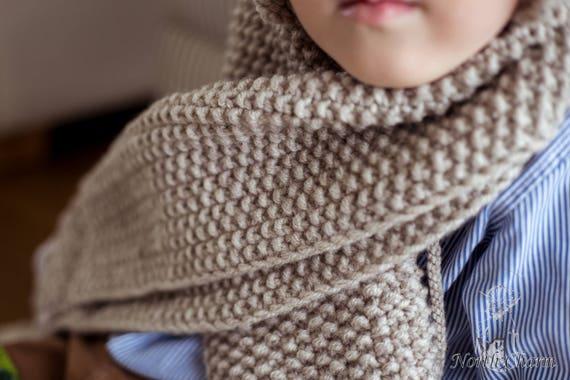 New Knitting Pattern Kids Wool Scarf Simple Kids Winter