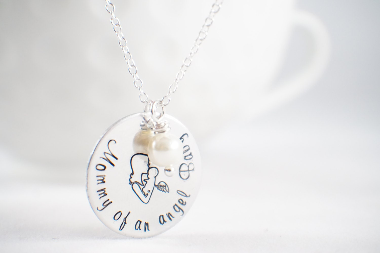Mommy of an angel baby necklace angel baby memorial necklace mommy of an angel baby necklace angel baby memorial necklace miscarriage necklace loss of baby miscarriage memorial baby memorial aloadofball Choice Image
