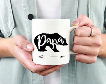 Papa Bear mug,Baby Shower Gift,New Dad Gift,Daddy Bear,Gift For Dad,Dad Gift,Dady Bear cup,Pregnancy Reveal,Dad Life, Daddy Bear Coffee Mug