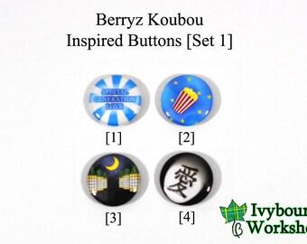 J-Pop / Hello! Project / Berryz Koubou Inspired 1-Inch Pinback Buttons [Set 1]