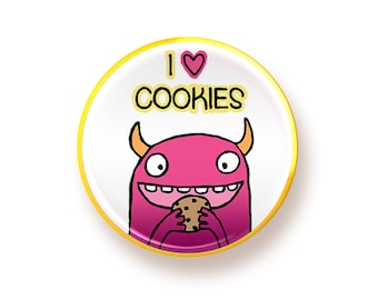 I heart Cookies - round magnet