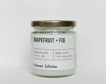 Grapefruit + Fig soy candle |  natural soy wax | Foxhound  | Candles, Soy Candle Trend Gift Idea Home Decor
