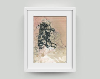 Graphic, painting, drawing-art/image unique abstract