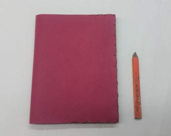 Hot Pink Leather Composition Book Cover, Pink Notebook, Refillable Pink Notebook, Cowgirl Comp Book