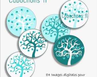 Digital images for round cabochons tree of life