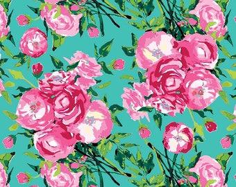 Aqua Berkshire Main - Berkshire Garden - Lila Tueller for Riley Blake Fabrics C6840-Aqua