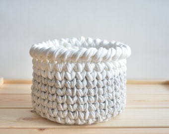 Home Decor Basket, Crochet Basket, Storage Basket, Crochet Bowl, Nursery Basket, Planter Basket