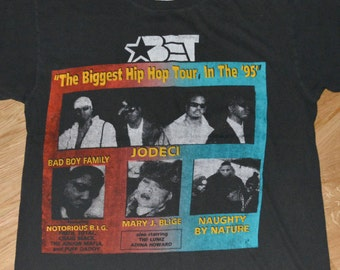 1995 BET Hip-Hop NOTORIOUS B.I.G Naughty by Nature vintage concert tour tshirt t-shirt (XL) Biggie Smalls Puff Daddy Craig Mack Mary J Blige