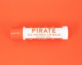 Pirate All Natural Lip Balm - Orange Soda Flavour