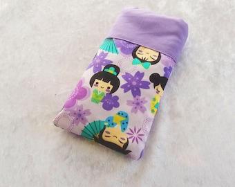 Phone purple Japanese dolls