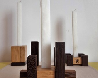 Wooden candleholder - Mastro Déco
