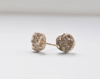 Imitation Round Druzy Stud Earrings