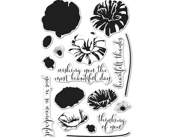 Hero Arts Color Layering Poppy Stamp Set