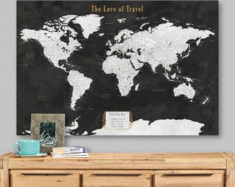 Large World Map Poster Vintage World Map Print Large World Map Wall Art Canvas Large World Map Print World Map Wall Art Vintage Antique Map