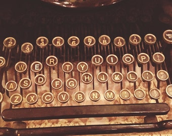 Fine Art Photography Antique Typewriter Color Archival Print Typewriter Keys Office Secretary