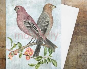 Handmade greetings card, Greetings card, Birthday greetings card, hand made bird card, personalised card, anniversary card,  Easter card,