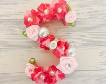 8cm Floral Letters & Numbers || Home Decor || Nursey Decor ||Home Sweet Home