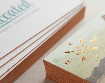 Smooth Uncoated with Foil - 500 business cards