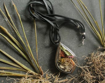 Swamp Locket with Maypop Leaf, Autumn Swamp Sunflower, Shelf Fungi, Spanish Moss, Cypress, Autumn Cypress Leaf, Red Cardinal Flower, Lichen