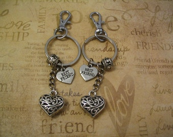 Best Friend Heart Purse Charms for Friends or Sisters Accessories