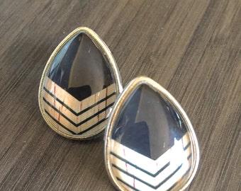 00g Teardrop Plugs 0g 2g 4g 6g Black Chevron Ear Plugs Tear Drop Ear Gauges Wood Pattern Accent Plugs and Tunnels 10mm 8mm 6mm 5mm