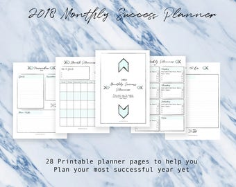 28 Page Monthly Success Planner