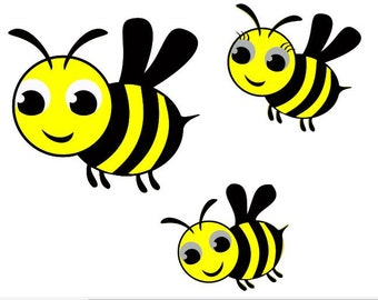 Cute Bumble bees DIGITAL download
