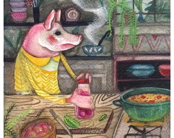 Making Soup ~ ORIGINAL PAINTING