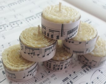 100% Pure & Natural Beeswax Tealight Candles