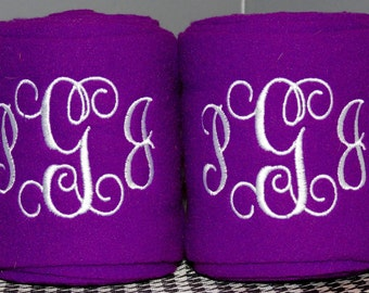 Embroidered Monogram personalized Polo Wraps